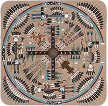 an introduction to the navajo tradition and whirling logs sandpainting After sacred navajo ceremonies the sandpaintings that were created are  destroyed these beautiful images have been preserved by the hands.